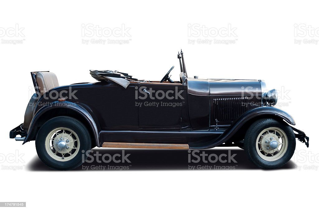 Luxury Ford A Coupe 1928 stock photo