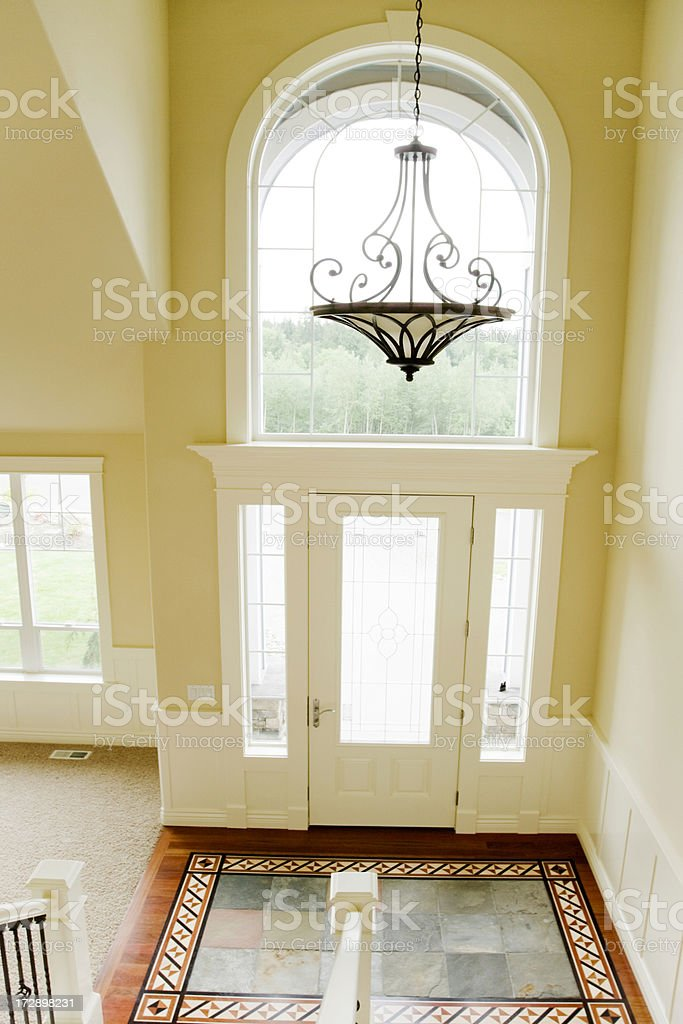 Luxury foyer to a new home stock photo