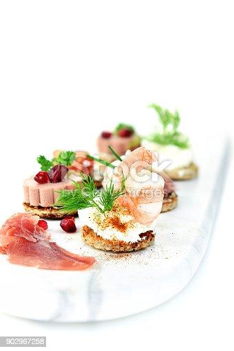 istock Luxury Fresh Canapes 902967258