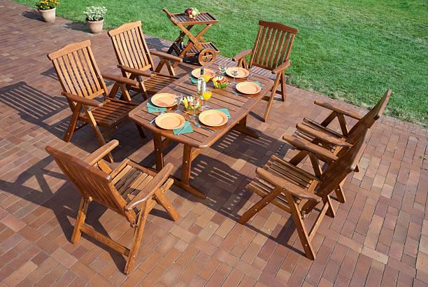 Luxury Garden furniture stock photo