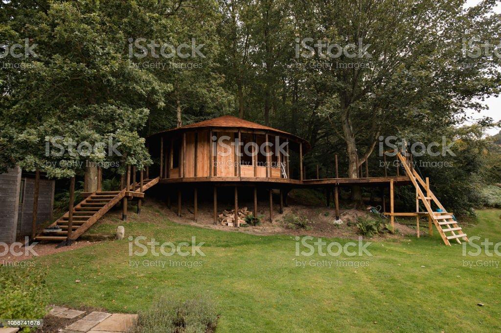 Luxury Garden Treehouse Stock Photo Download Image Now Istock