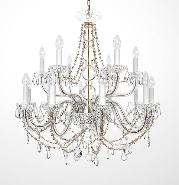 Luxury Glass Chandelier stock photo