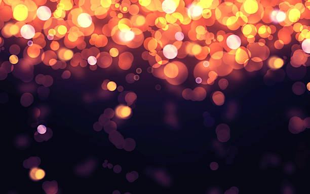 Luxury glowing falling light Bokeh texture background stock photo