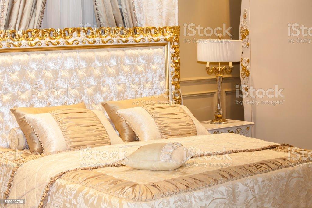 Luxury Gold Bedroom Stock Photo - Download Image Now - iStock