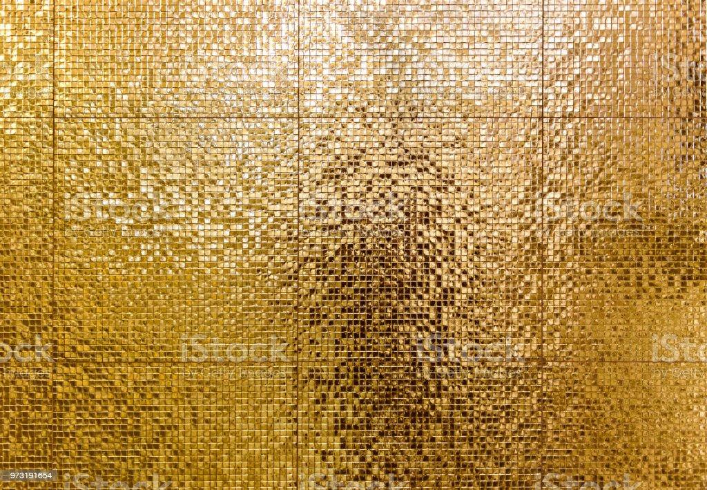 Luxus Gold Mosaik Fliesen Hintergrund Für Bad Oder Wc Textur ...