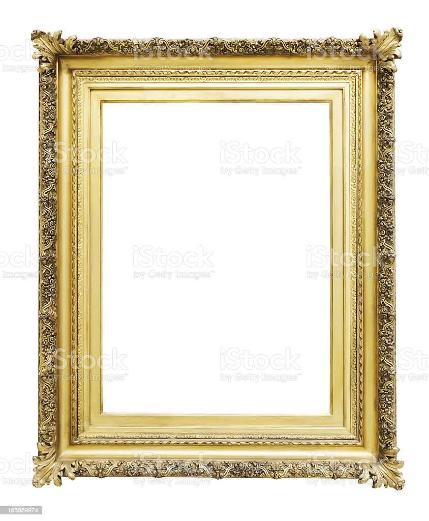 Luxury gold picture frame royalty-free stock photo