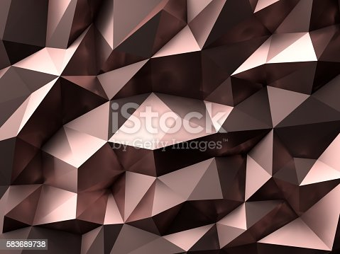 512401542istockphoto Luxury Gold Rose Abstract Polygonal Background 3D Rendering 583689738