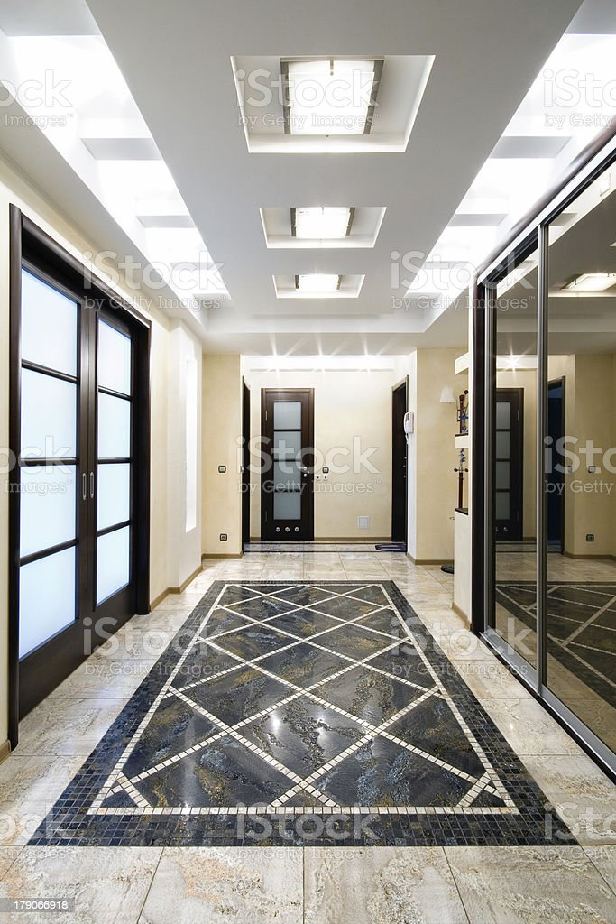 Luxury hall in apartment royalty-free stock photo