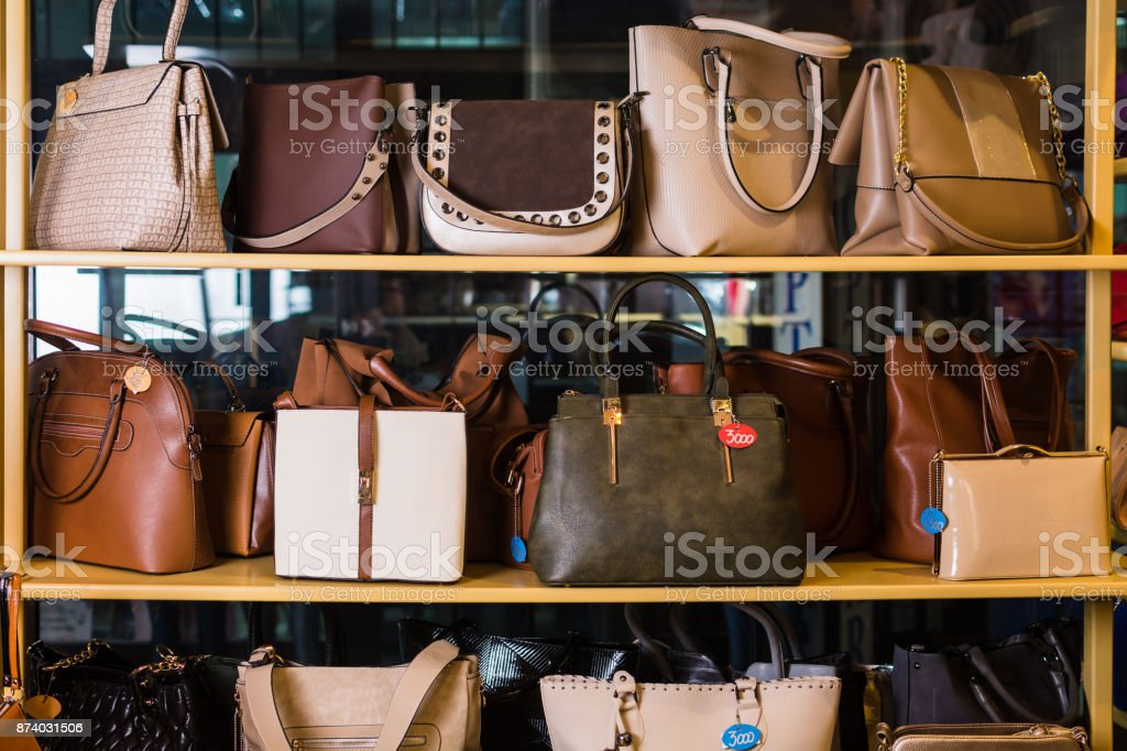 073944db15 Luxury Handbags Store Stock Photo   More Pictures of Adult
