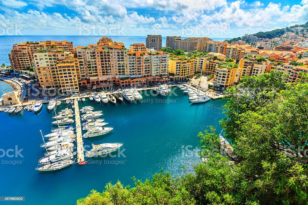 Luxury harbor and colorful buildings,Monte Carlo,Monaco,Europe stock photo