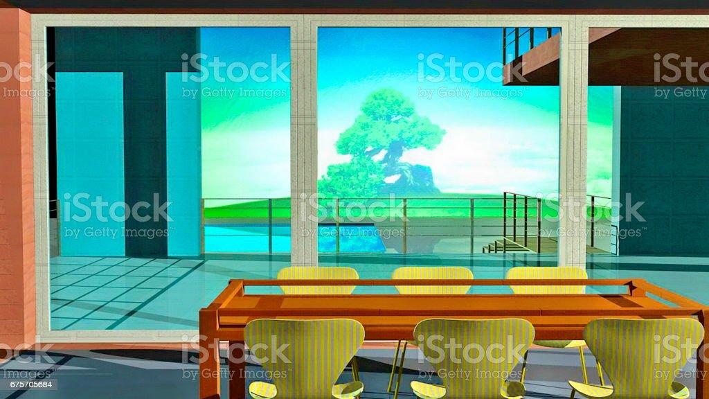 Luxury Holiday Home royalty-free stock photo