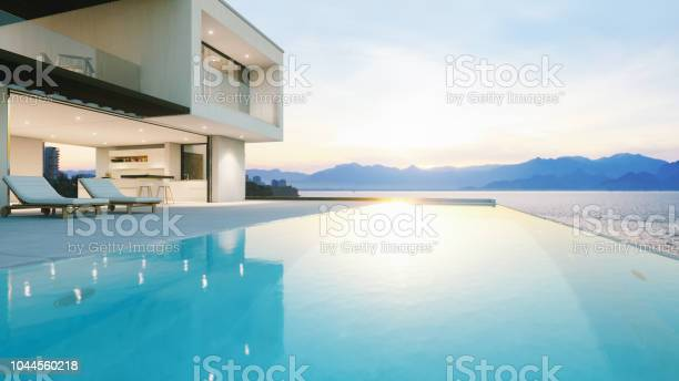 Photo of Luxury Holiday Villa With Infinity Pool At Sunset
