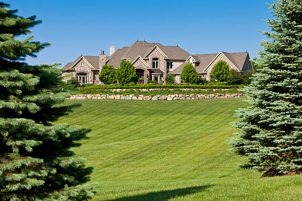 Luxury Home and Grounds stock photo