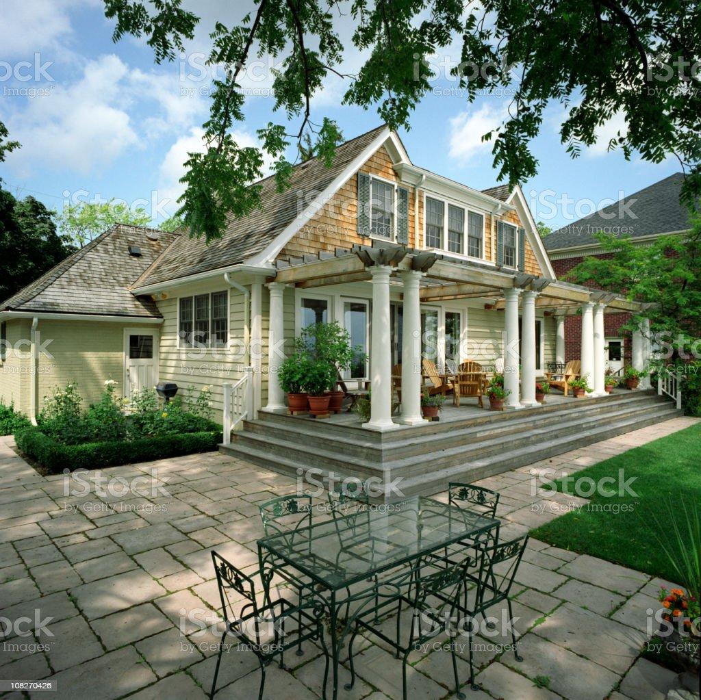 Luxury Home exterior stock photo