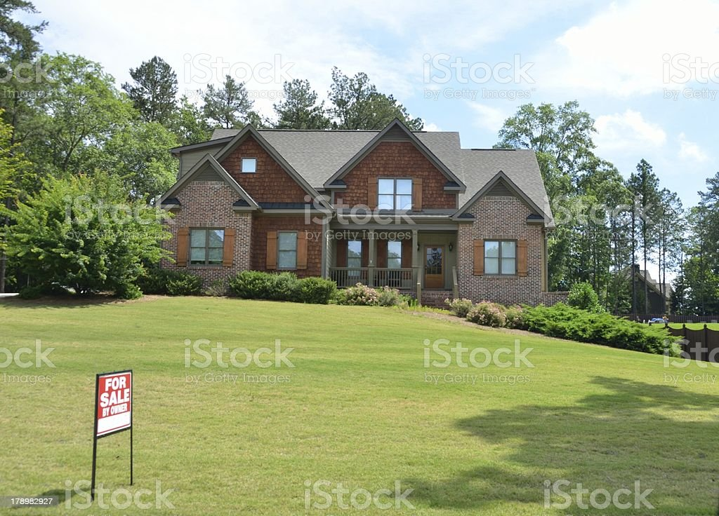 Luxury home for sale stock photo
