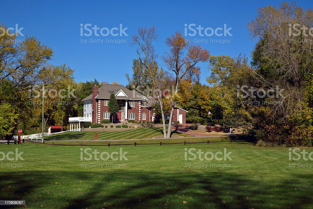 Luxury Home in Rural Area stock photo