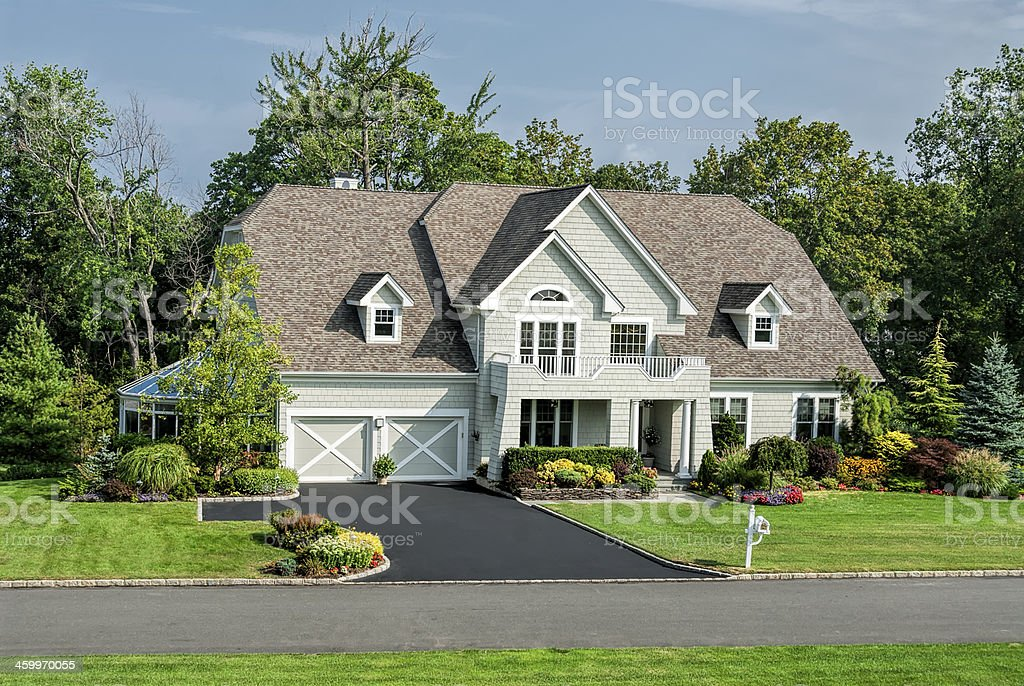 Luxury Home in the Suburbs stock photo