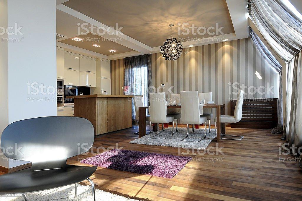 Luxury Home Interior stock photo