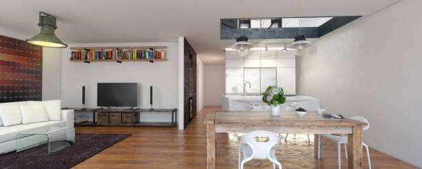 luxuriöses home interior - große wohnzimmer stock-fotos und bilder