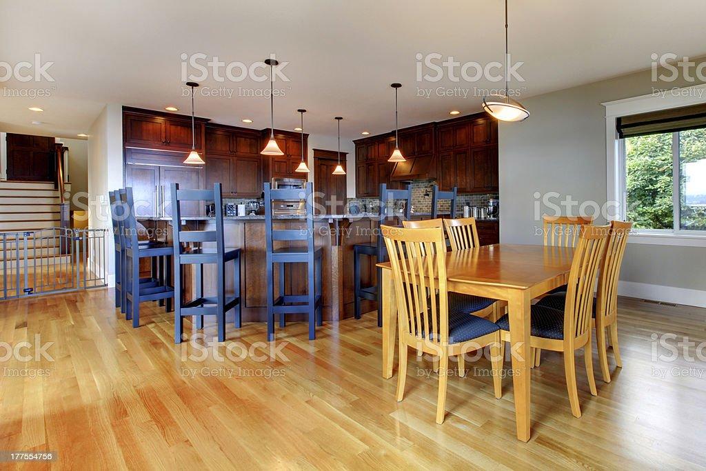 Cucina E Sala Open Space.Casa Di Lusso Cucina E Sala Da Pranzo Con Open Space Fotografie