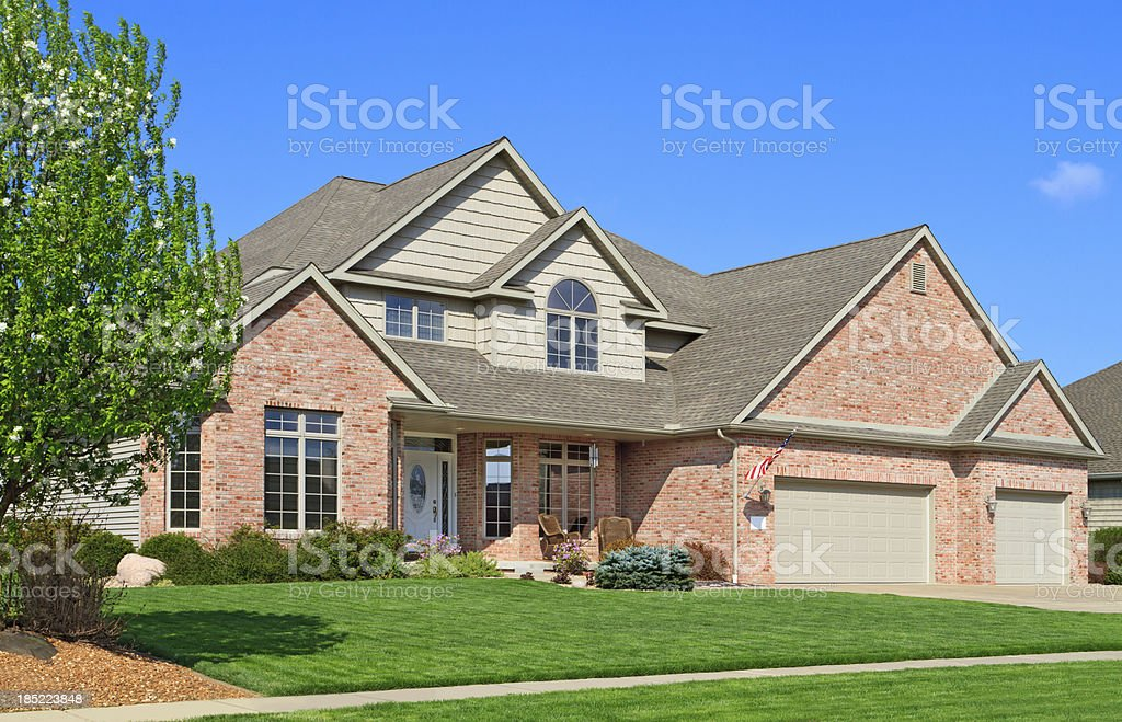 Luxury home new construction royalty-free stock photo