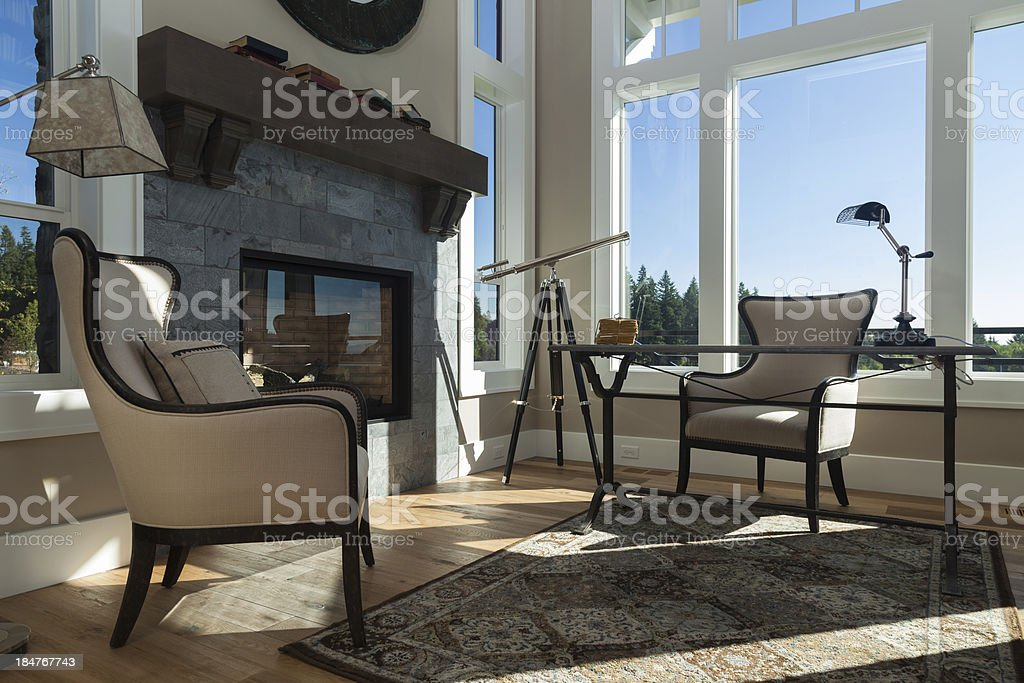 Luxury Home Office royalty-free stock photo