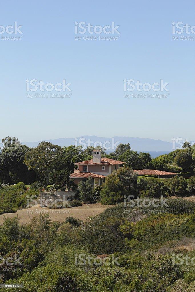 Luxury Home Pacific Ocean Catalina Island stock photo