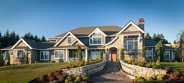 Luxury Home Luxury custom home model home stock pictures, royalty-free photos & images