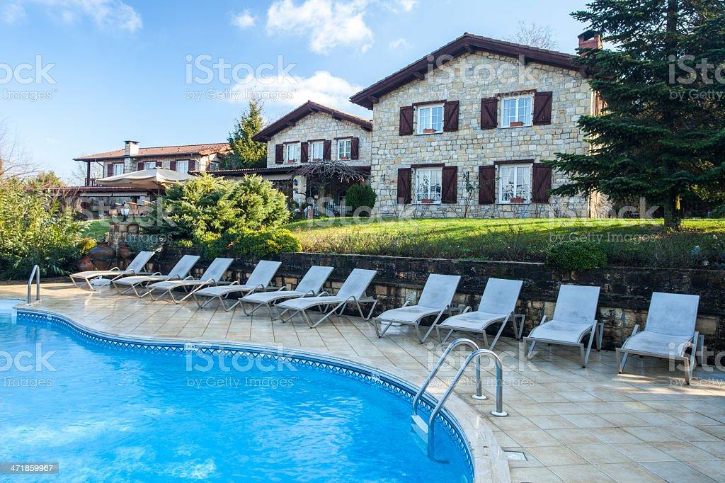 Luxury Home Pool Shot royalty-free stock photo