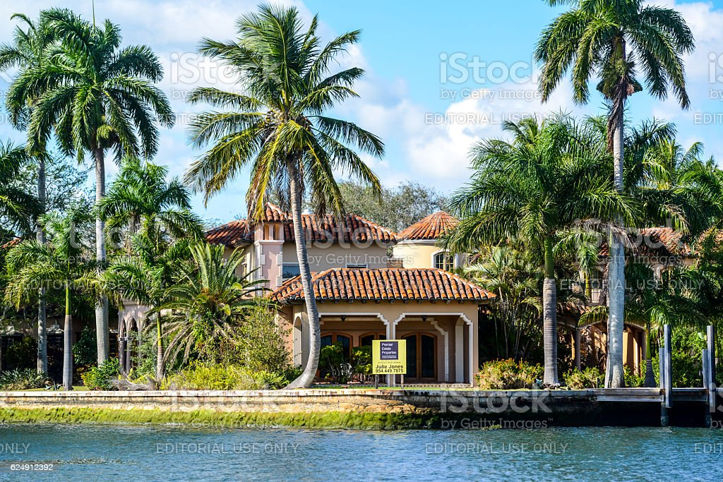 Luxury Homes In Fort Lauderdale, USA Royalty Free Stock Photo
