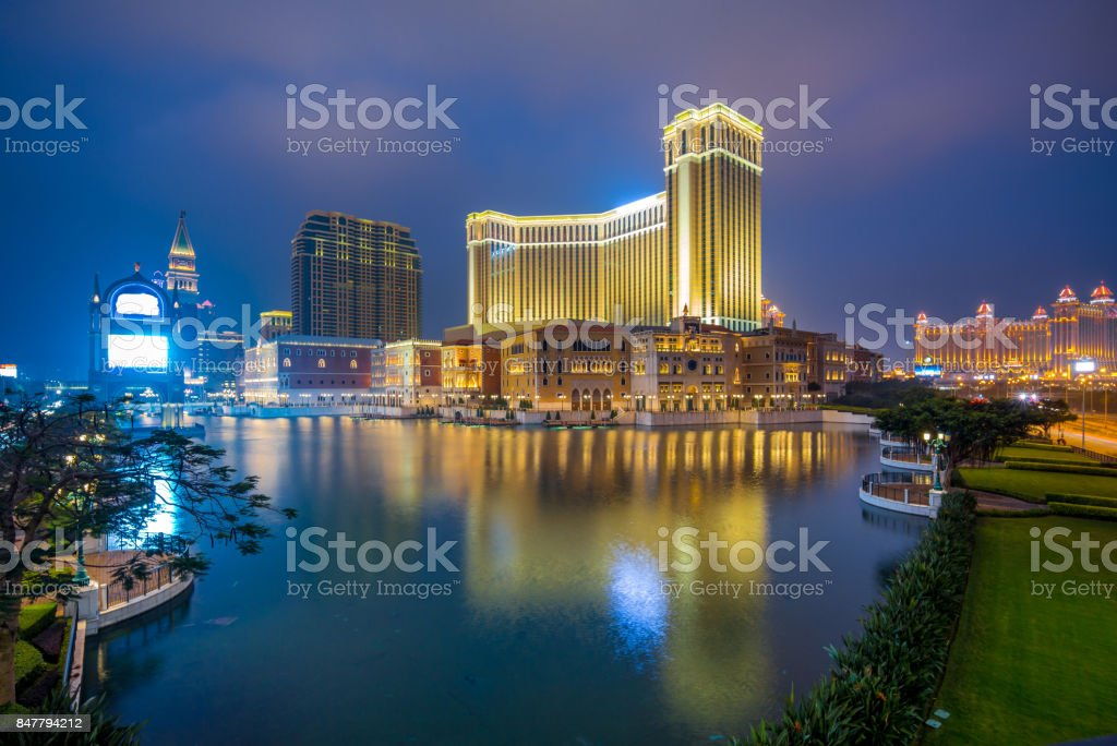 luxury hotel and casino resort stock photo