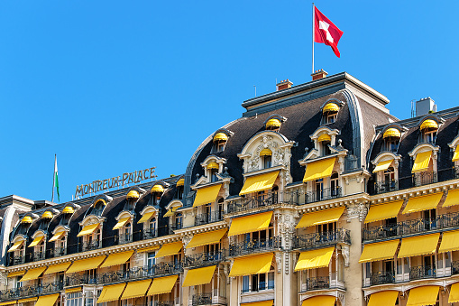 Luxury hotel at Geneva Lake Riviera at Montreux