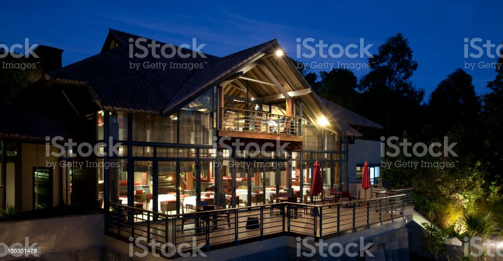 Luxury Hotel at Night royalty-free stock photo