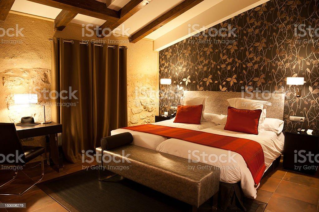 Luxury hotel bedroom - Royalty-free Armchair Stock Photo