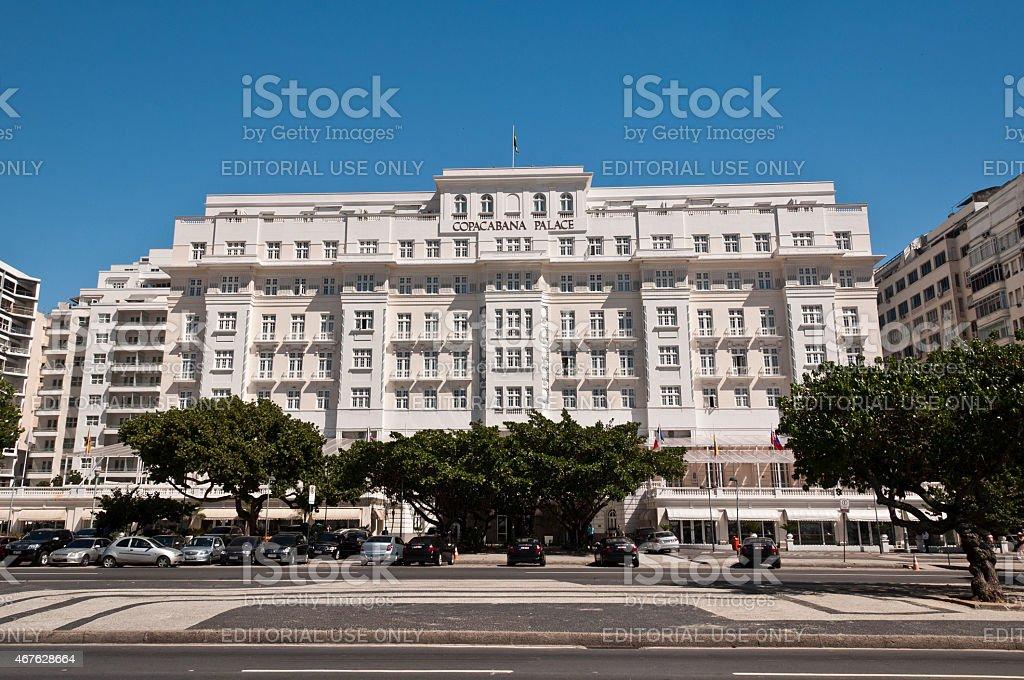 Luxury Hotel Copacabana Palace stock photo