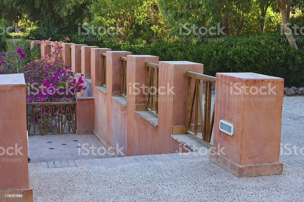 Luxury hotel green alley royalty-free stock photo