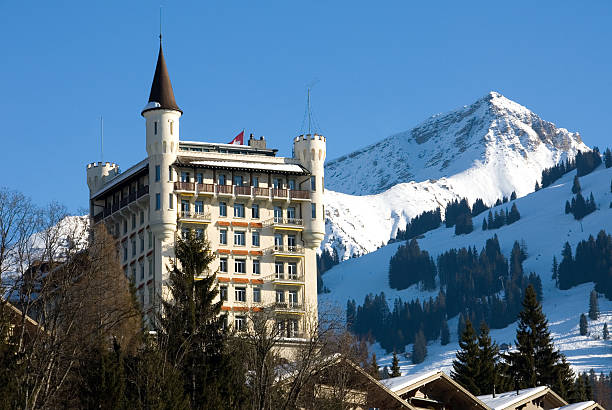 Luxury Hotel - Gstaad, Switzerland stock photo