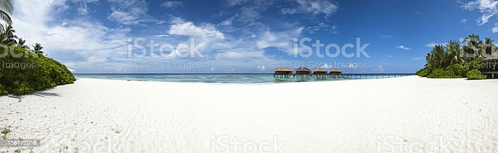 luxury hotel in tropical island stock photo