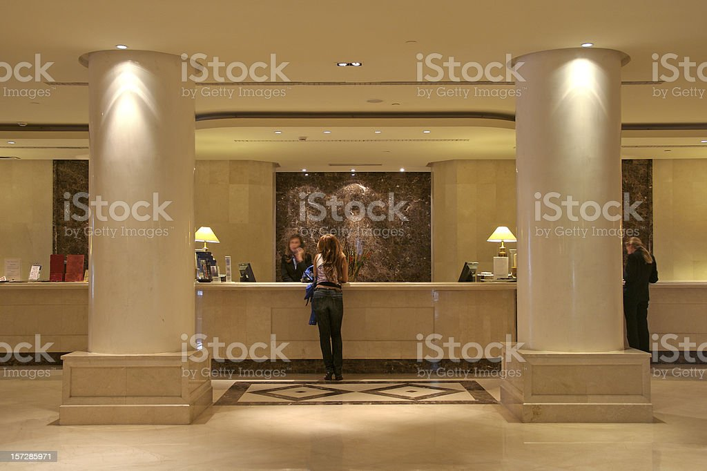 Luxury Hotel Lobby royalty-free stock photo