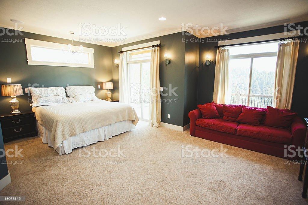Luksusowy Hotel Lub Sypialnia Z Dużym łóżkiem Windows Sofa