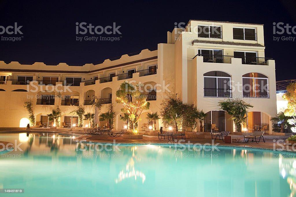 Beautiful Resort Pool in the night