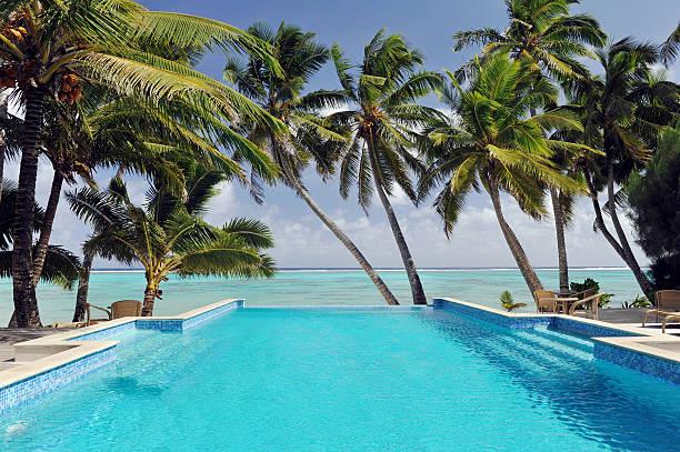 Luxury hotel pool stock photo