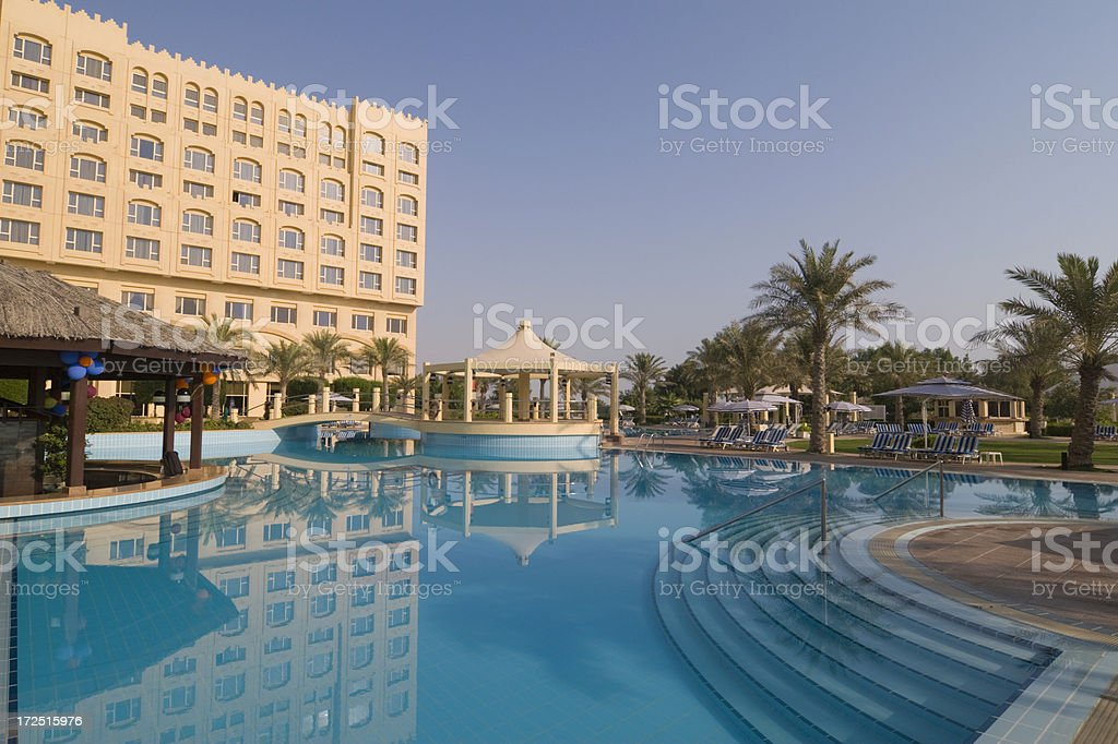 Luxury hotel pool royalty-free stock photo