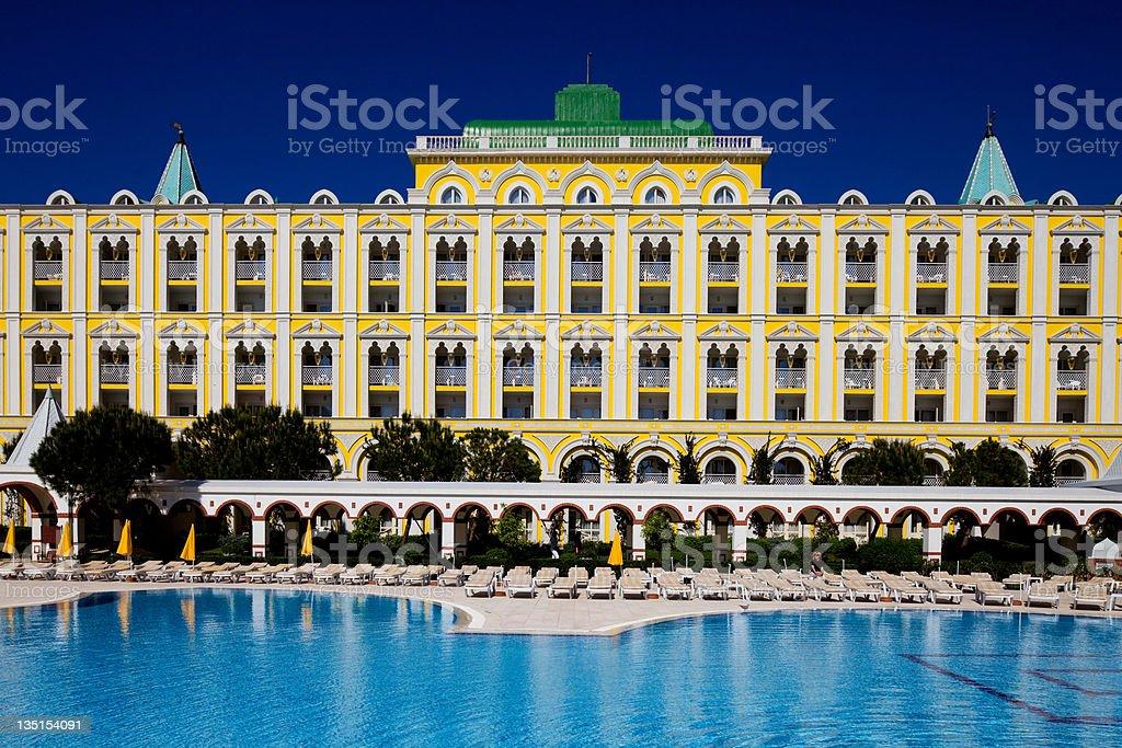 Luxury hotel resort in Antalya,Turkey stock photo