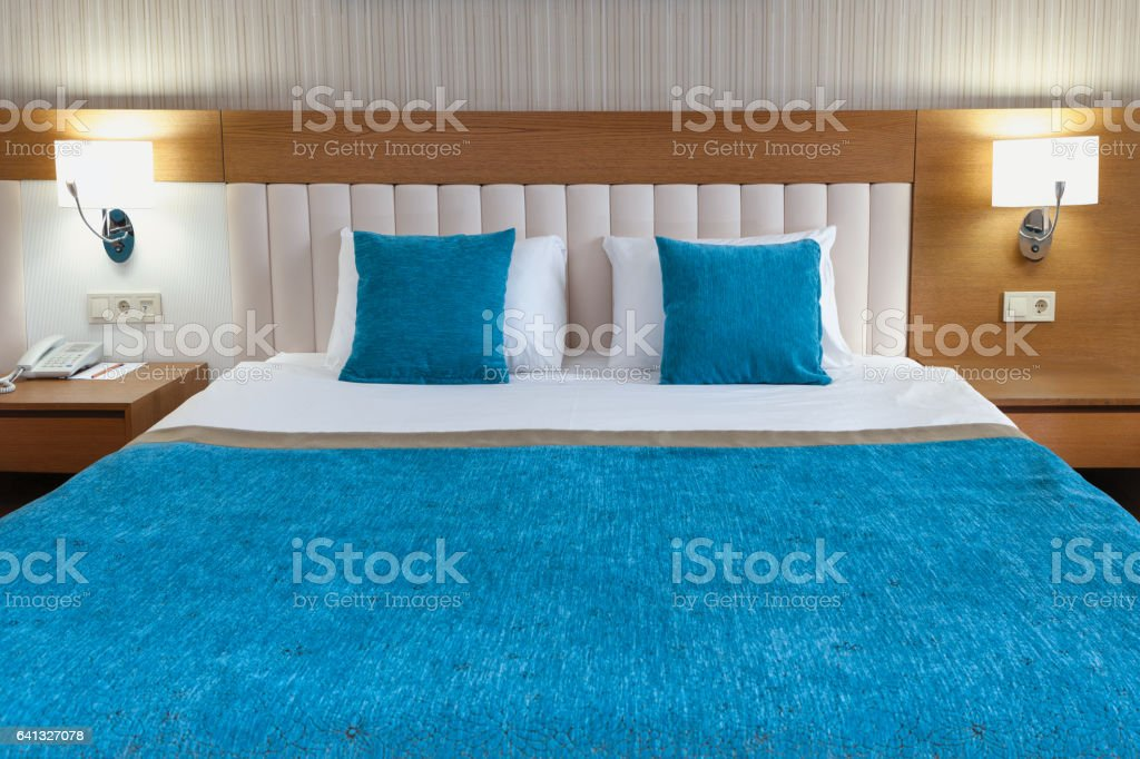 Luxury Hotel Room Detail Front View stock photo