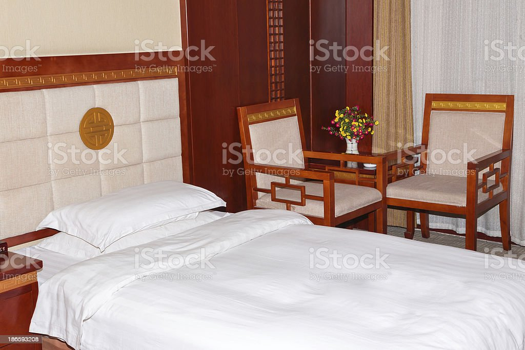 Luxury hotel room in china royalty-free stock photo