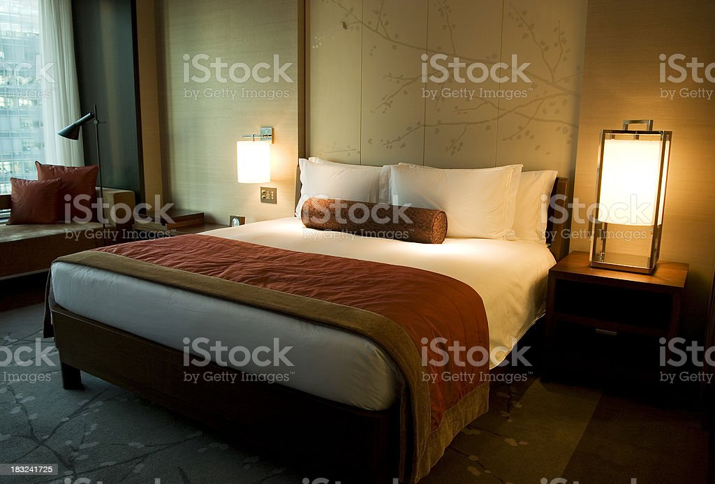 Luxury hotel room interior royalty-free stock photo
