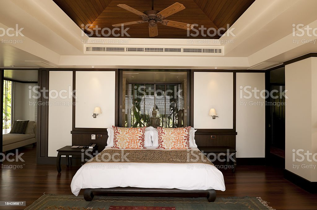 luxury hotel room suite villa phuket thailand stock photo