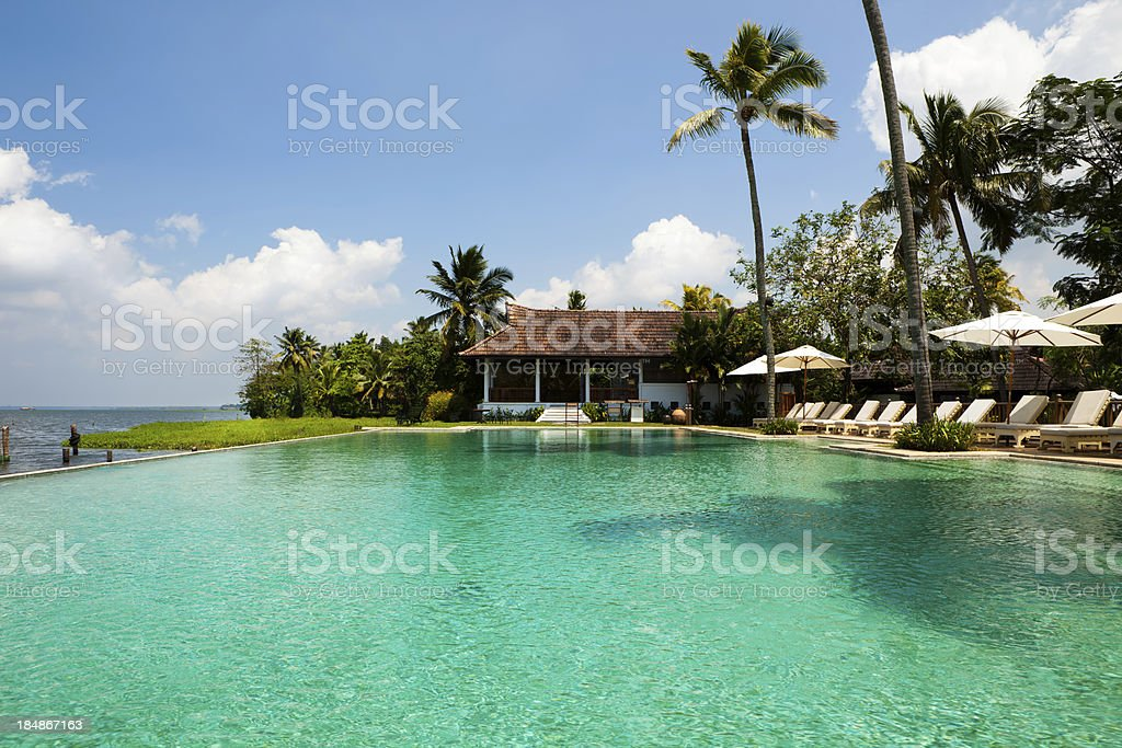 Luxury hotel swiming pool royalty-free stock photo
