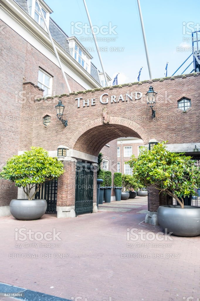 Luxury hotel The Grand in Amsterdam city center stock photo